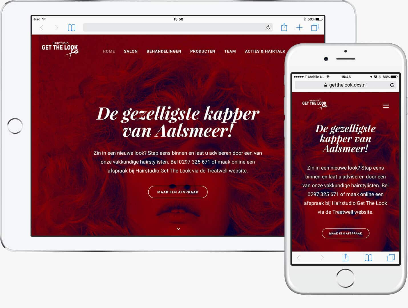 Nieuw werk: website en e-mail marketing Hairstudio Get The Look