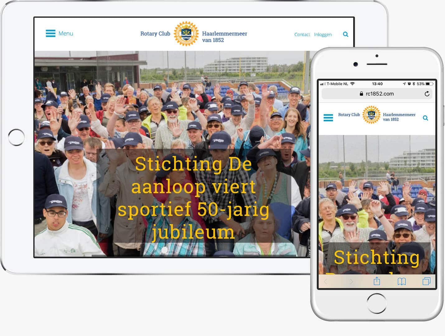 WordPress website Rotary club Haarlemmermeer van 1852